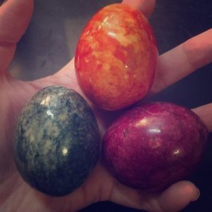 Marbleized Eggs; Set of 3